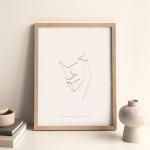 In my arms (svartvit) – poster